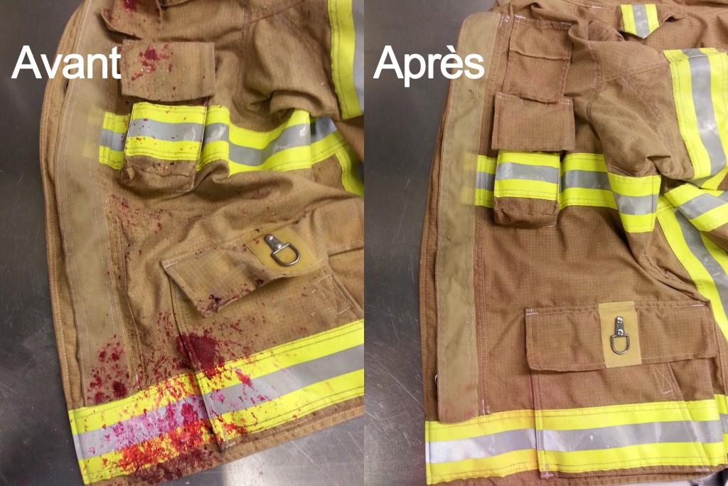 Nettoyage manteau avant et après