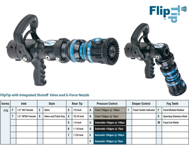 Fliptip avec ball shutoff