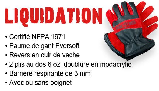Liquidation gants Fire Hog-blanc
