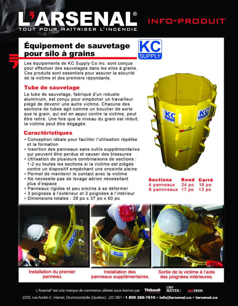 Info-produit KC Supply-RECTO