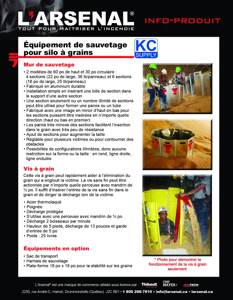 Info-produit KC Supply-VERSO