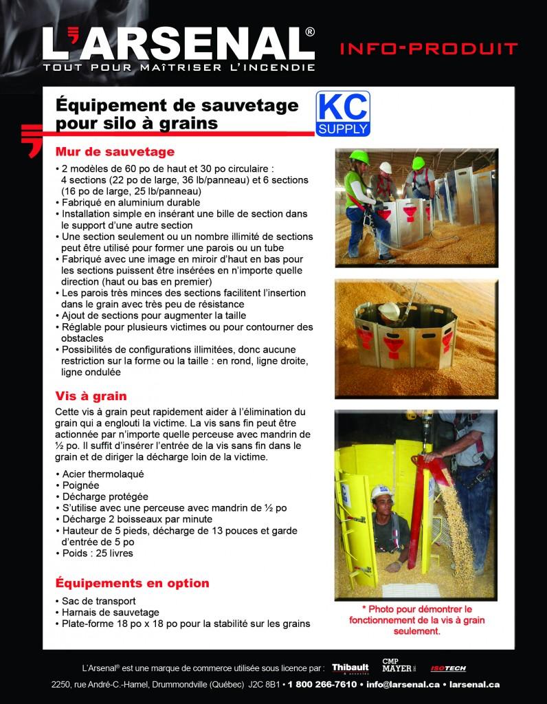 Info-produit KC Supply-VERSO