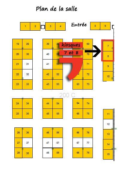 Plan de salle- kiosques L'Arsenal 7 et 8