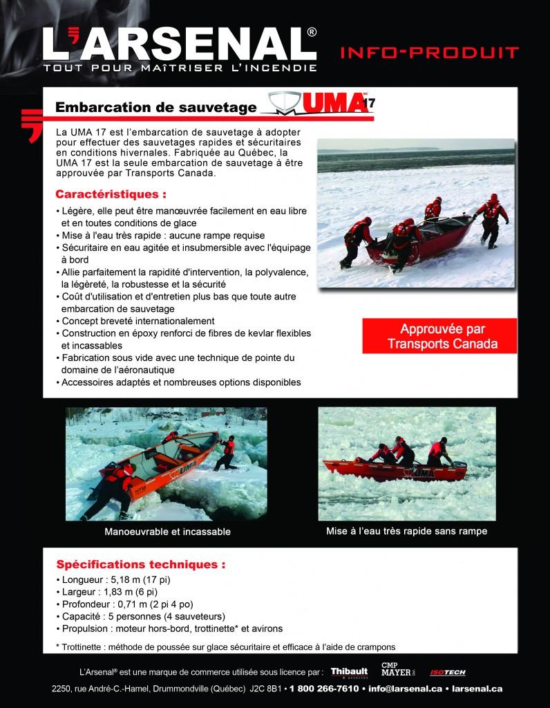 Info-produit UMA 17