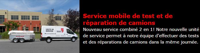 Service mobile test entretien réparation