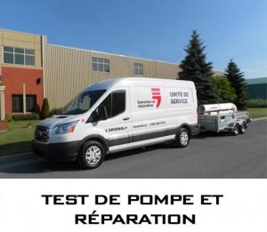 Test de pompe et réparation
