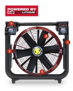 """Ventilateur à batterie 16"""" V16-BL de Super Vac"""