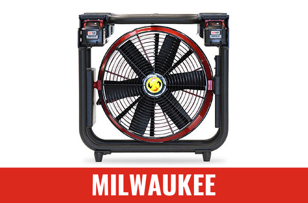 "Ventilateur à batterie Milwaukee 16"" V16-BL de Super Vac"