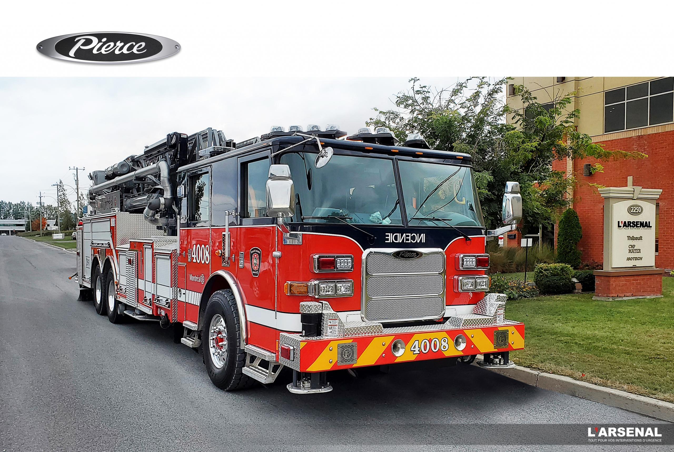 camion incendie Pierce pour Montréal - L'Arsenal